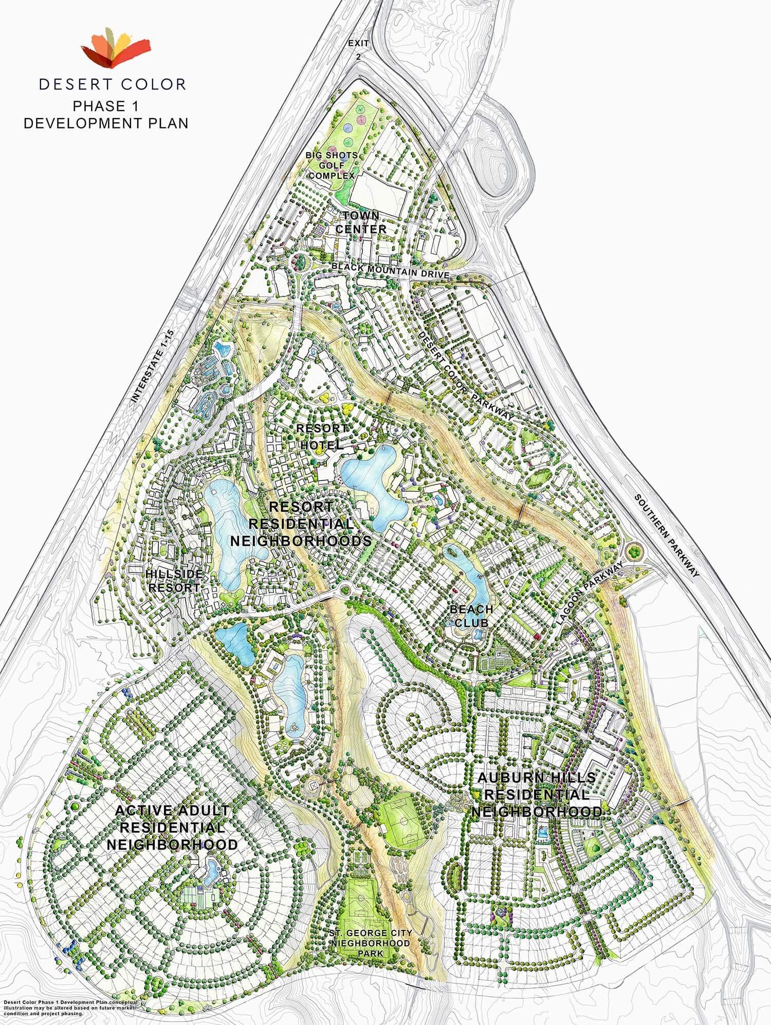 Auburn Hills at Desert Color Plot Map