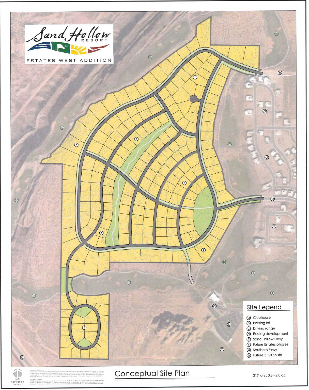Plot Map for The Estate at Sand Hollow Resort